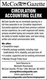 employment flyers mccook gazette
