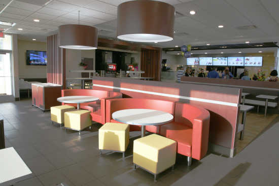 Business vip reception opens rebuilt mcdonalds franchise 42612 the new mcdonalds dining room mccook daily gazette sxxofo